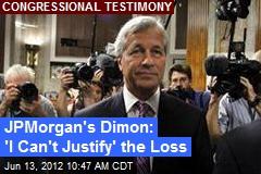 JPMorgan's Dimon: 'I Can't Justify' the Loss