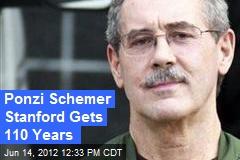 Ponzi Schemer Stanford Gets 110 Years