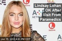 Lindsay Lohan OK After Visit From Paramedics