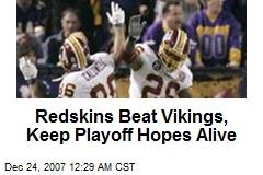 Redskins Beat Vikings, Keep Playoff Hopes Alive