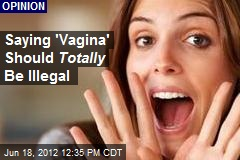 Saying 'Vagina' Should Totally Be Illegal