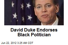 David Duke Endorses Black Politician
