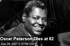 Oscar Peterson Dies at 82