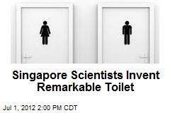 Singapore Scientists Invent Remarkable Toilet