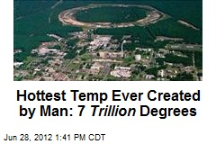 Hottest Temp Ever Created by Man: 7 Trillion Degrees