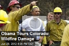 Obama Tours Colorado Wildfire Damage