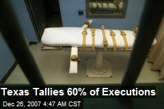 Texas Tallies 60% of Executions