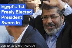 Egypt's 1st Freely Elected President Sworn In