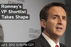 Romney's VP Shortlist Takes Shape
