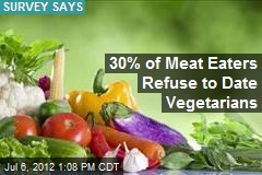 30% of Meat Eaters Refuse to Date Vegetarians