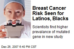 Breast Cancer Risk Seen for Latinos, Blacks