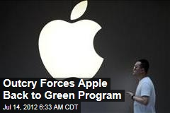 Outcry Forces Apple Back to Green Program
