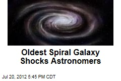 Oldest Spiral Galaxy Shocks Astronomers