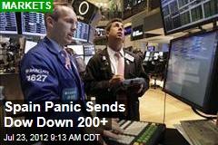 Spain Panic Sends Dow Down 200+