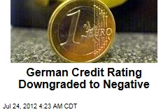 German Credit Rating Downgraded to Negative