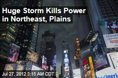 Huge Storm Kills Power in Northeast, Plains