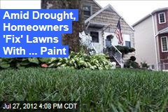 Amid Drought, Homeowners 'Fix' Lawns With ... Paint