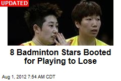 Badminton Stars Charged With Playing to Lose