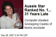 Aussie Star Ranked No. 1... 31 Years Late