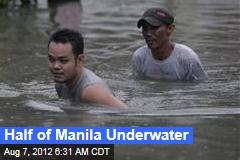 Half of Manila Underwater