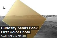 Curiosity Sends Back First Color Photo