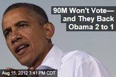 90M Won't Vote— and They Back Obama 2 to 1