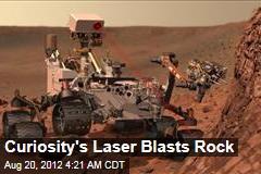 Curiosity's First Laser Blast Rocks
