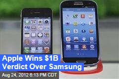 Jury Sides With Apple in Samsung Lawsuit