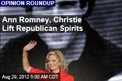 Ann Romney, Christie Lift Republican Spirits