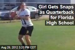 Girl Gets Snaps as Quarterback for Florida High School