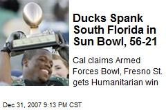 Ducks Spank South Florida in Sun Bowl, 56-21