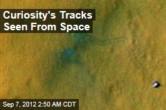 Curiosity's Tracks Seen From Space