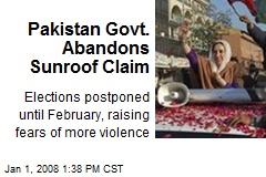 Pakistan Govt. Abandons Sunroof Claim
