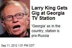 Larry King Gets Gig at Georgia TV Station