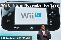 Wii U Hits in November for $299