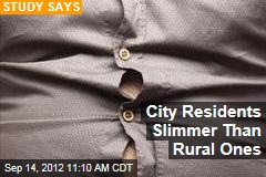 City Residents Slimmer Than Rural Ones