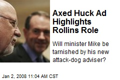 Axed Huck Ad Highlights Rollins Role
