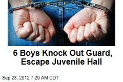 6 Boys Knock Out Guard, Escape Juvenile Hall