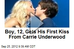 Boy, 12, Gets His First Kiss From Carrie Underwood