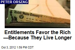 Entitlements Favor the Rich —Because They Live Longer