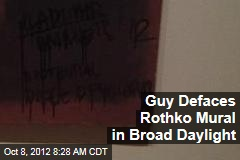 Guy Defaces Rothko Mural in Broad Daylight