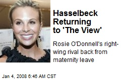 Hasselbeck Returning to 'The View'