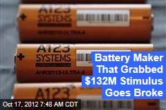 Battery Maker That Grabbed $132M Stimulus Goes Broke