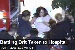 Battling Brit Taken to Hospital