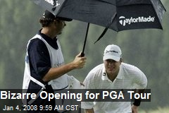 Bizarre Opening for PGA Tour