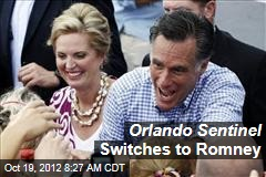 Orlando Sentinel Switches to Romney