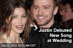 Justin Debuted New Song at Wedding