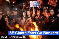 SF Giants Fans Go Bonkers