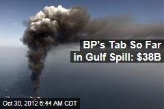 BP's Tab So Far in Gulf Spill: $38B