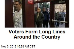 Voters Form Long Lines Around the Country